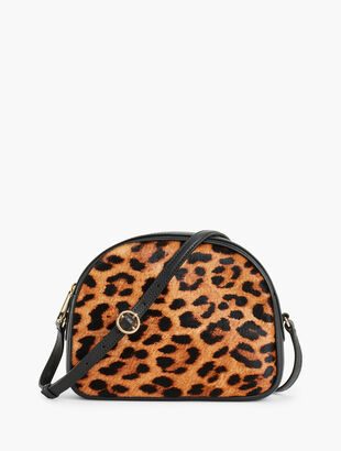 Calf Hair Half Moon Crossbody Bag