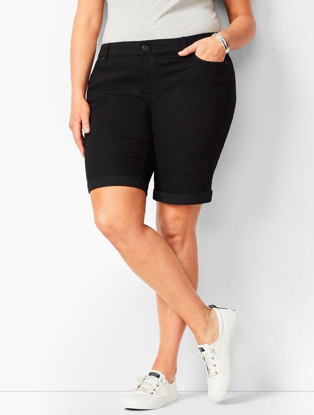 Girlfriend Jean Shorts - Black Onyx Stretch