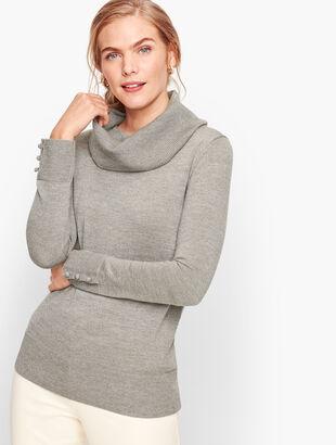 Merino Cowlneck Sweater - Shimmer
