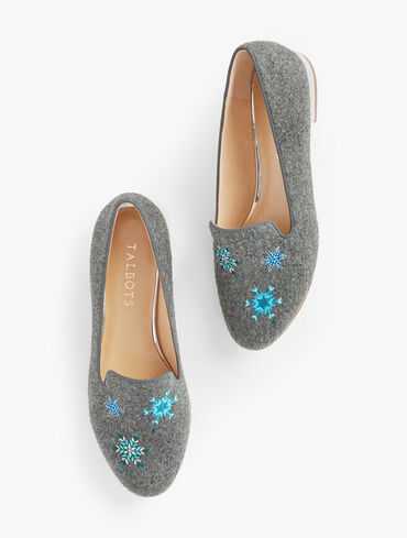 Ryan Embroidered Flannel Loafers