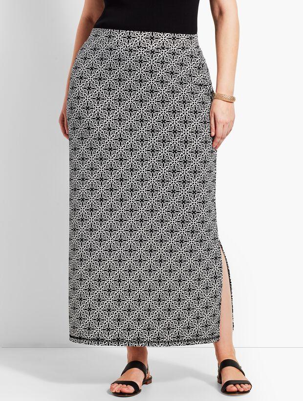 d9f1b53cfbd0 Woman Exclusive Tile Knit Jersey Maxi Skirt   Talbots