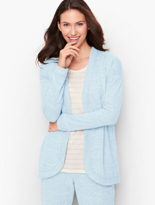 Brushed Mélange Cinched Cardigan