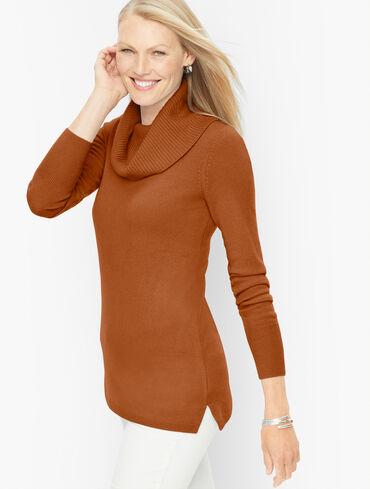 Cashmere Cowlneck Tunic Pullover