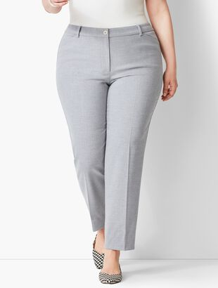 Plus Size High-Waist Tailored Ankle Pant - Grey