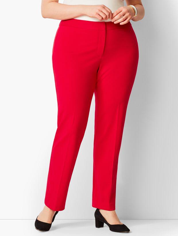 Italian Luxe Knit Straight-Leg Pants