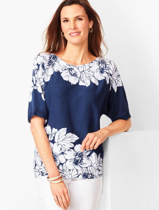 Dolman-Sleeve Sweater - Floral