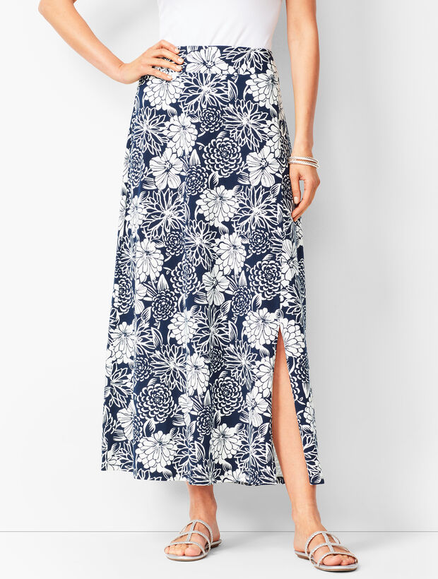 Jersey Maxi Skirt - Floral