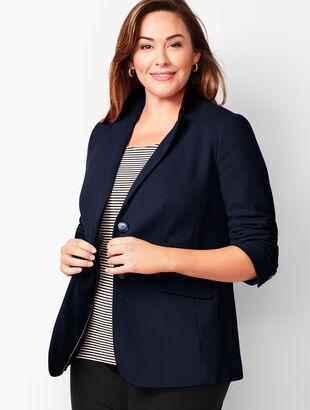 Aberdeen Knit Blazer - Piqué Knit