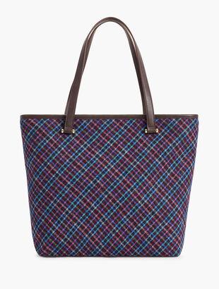 Mistletoe Plaid Tote Bag