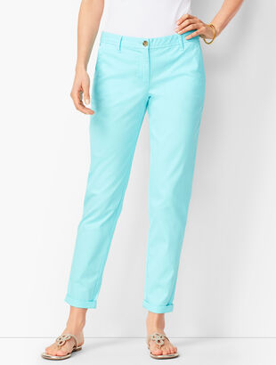 Girlfriend Chinos - Garment-Dyed Light Aqua