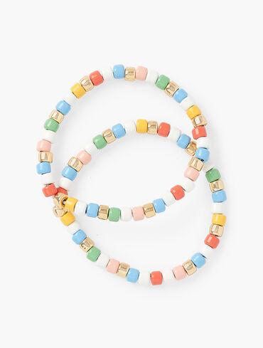 Enamel Bead Stretch Bracelets
