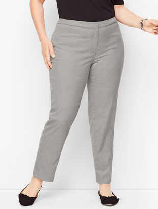 Square Houndstooth Woven Ankle Pants