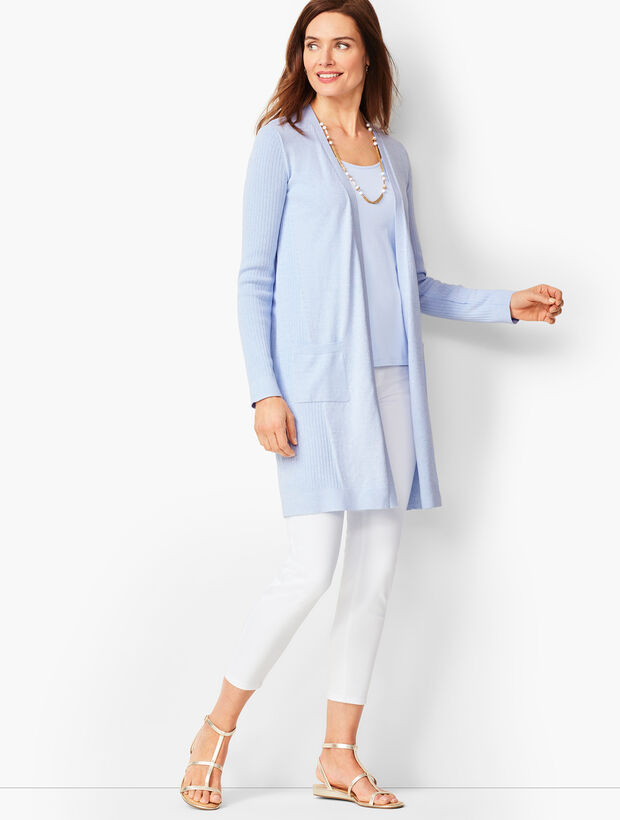 Pima Open-Front Duster - Marled