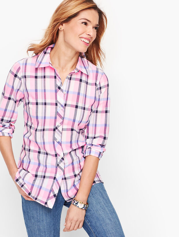 Classic Cotton Shirt - Serenity Plaid