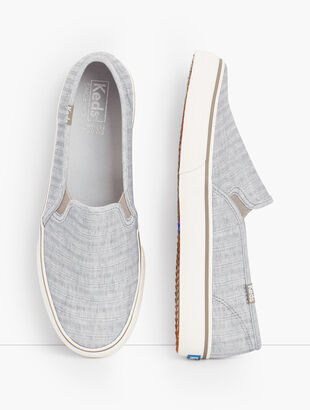 Keds® Double Decker Slip-On Sneakers - Chambray