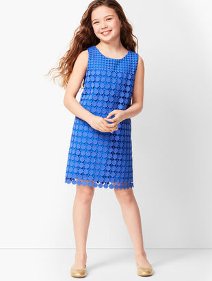 Girls Circle-Lace Sheath Dress