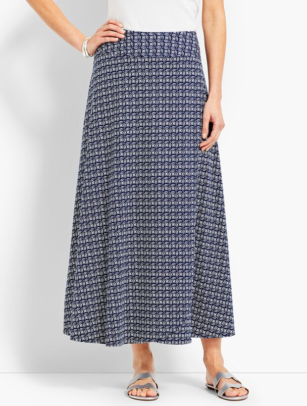 2c845796794 Casual Jersey Maxi Skirt - Faded Geo