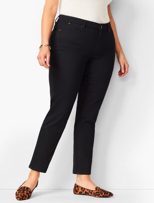 Plus Size Exclusive Slim Ankle Jeans - Black