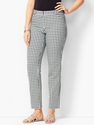 Talbots Hampshire Ankle Pants - Curvy Fit/Gingham