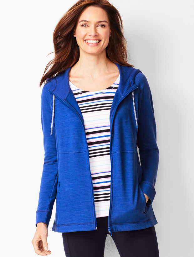 Zip-Front Hooded Jacket
