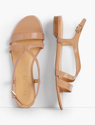 Keri Strap Sandals - Patent Leather