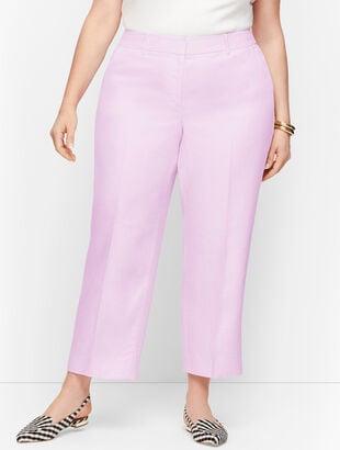 Linen Straight Leg Crop - Curvy Fit - Twill