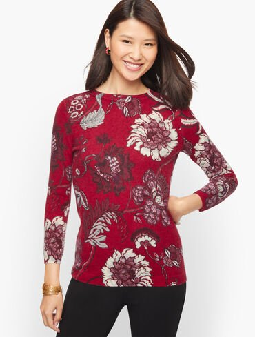 Audrey Cashmere Sweater - Graphic Floral