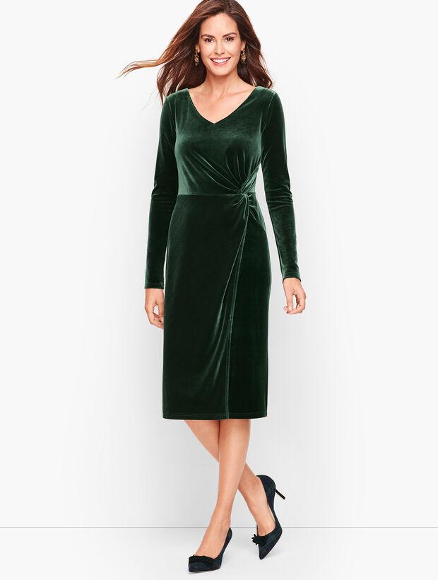 Velour Twist Front Dress