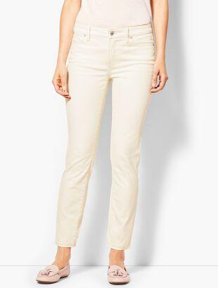 Denim Slim Ankle Jean - Vanilla