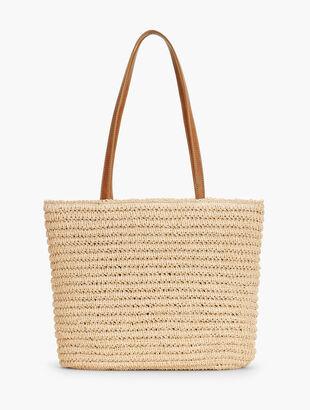 eb83bbc39bd Crochet Paper Straw Tote Bag
