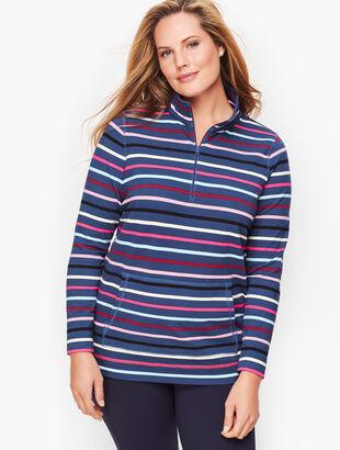 Half Zip Top - Colorful Stripe