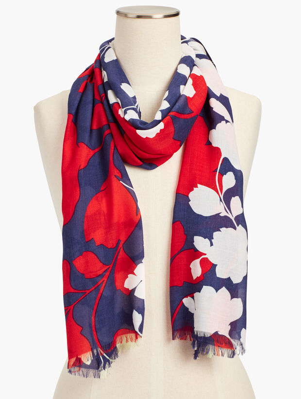 Lively Floral Scarf