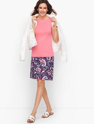 Paisley Watercolor Canvas A-Line Skirt