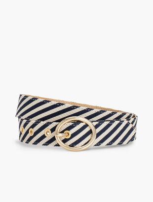 Corded-Stripe Belt