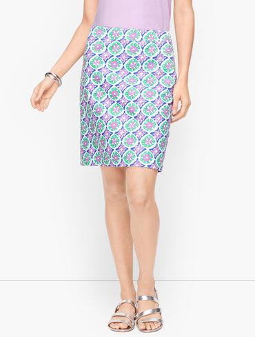 Canvas A-Line Skirt - Medallion