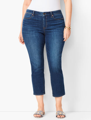 Plus Size Denim Straight Crops - Curvy Fit - Element Wash