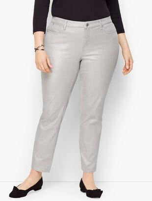 Slim Ankle Jeans - Silver Foil