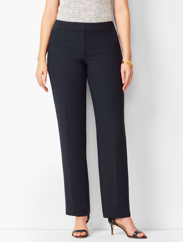 Seasonless Crepe Straight-Leg Pants- Curvy Fit