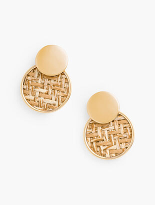 Basketweave Inset Earrings