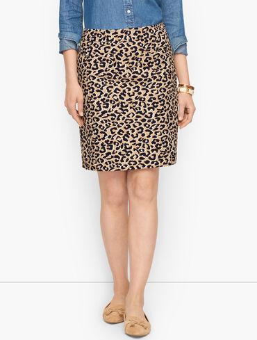 Canvas A-Line Skirt - Abstract Cheetah