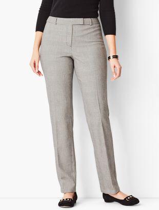 Bi-Stretch High-Waist Straight-Leg Pant - Curvy Fit/Plaid