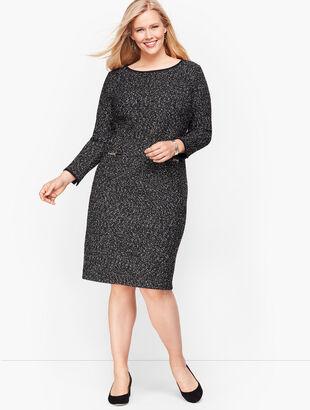Knit Tweed Shift Dress
