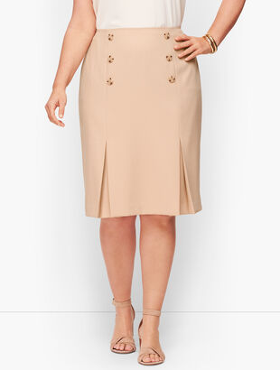 Luxe Italian Double Weave Collection - Pencil Skirt