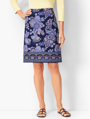 Paisley Canvas A-Line Skirt