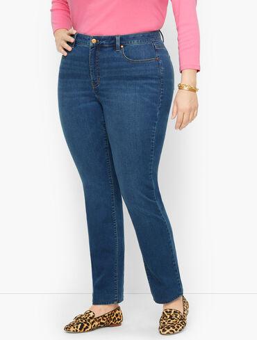 Plus Size Exclusive Straight Leg Jeans - Solstice Wash