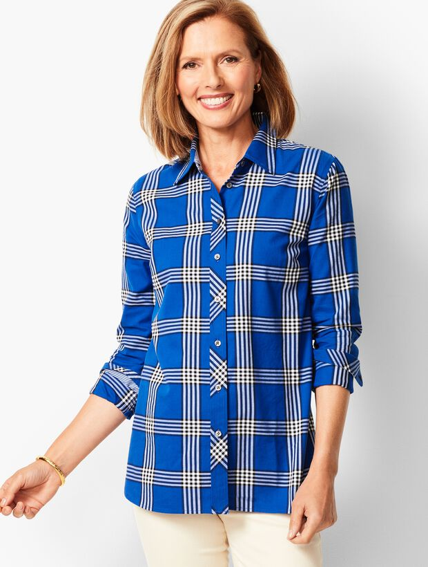 Classic Cotton Shirt - Checker Plaid