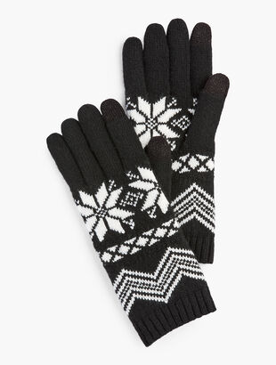 Snowflake Fair Isle Gloves