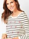 Hearts & Stripes Crewneck Sweater