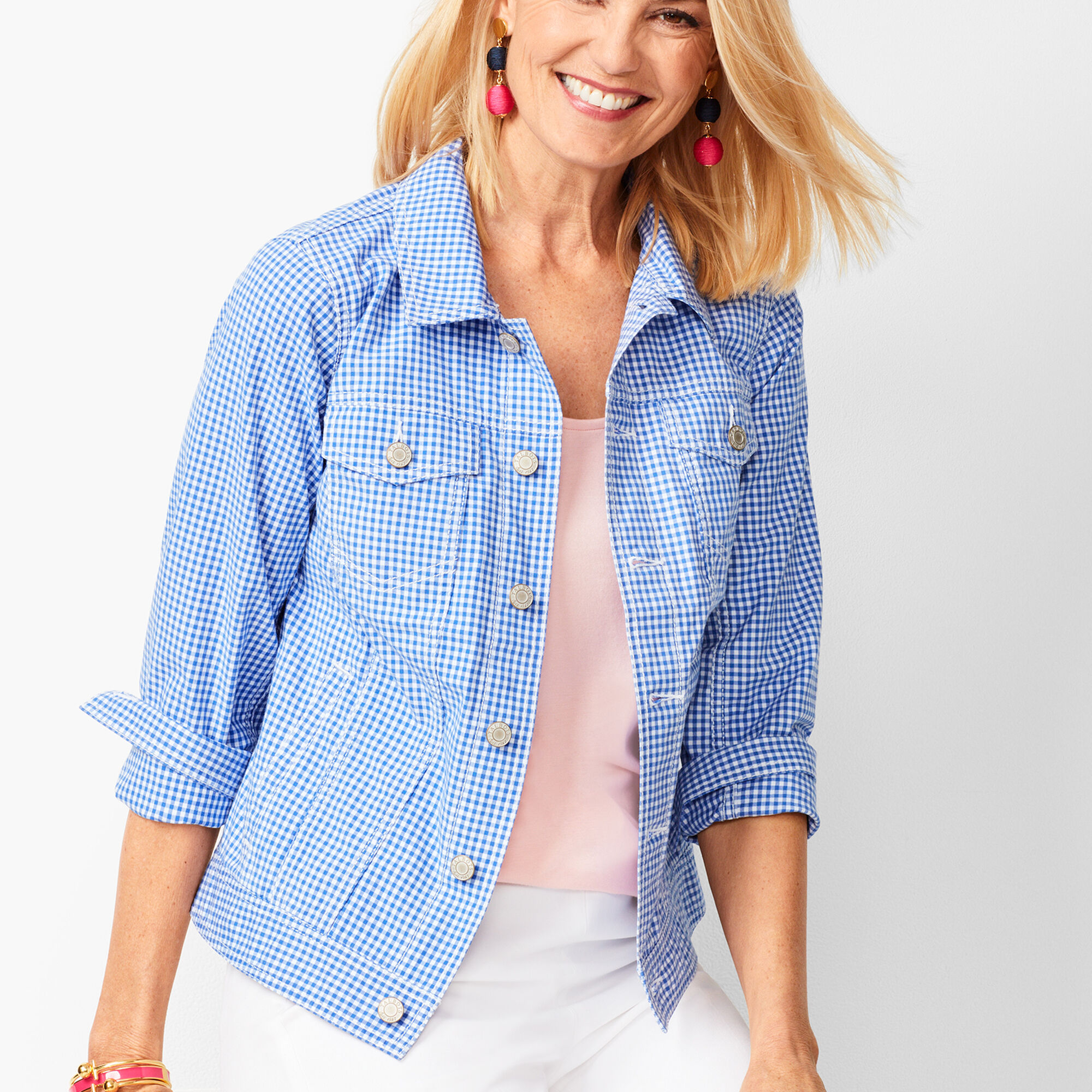 a52adbc5dce Classic Jean Jacket - Gingham Opens a New Window.