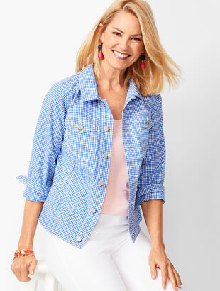 Classic Jean Jacket - Gingham